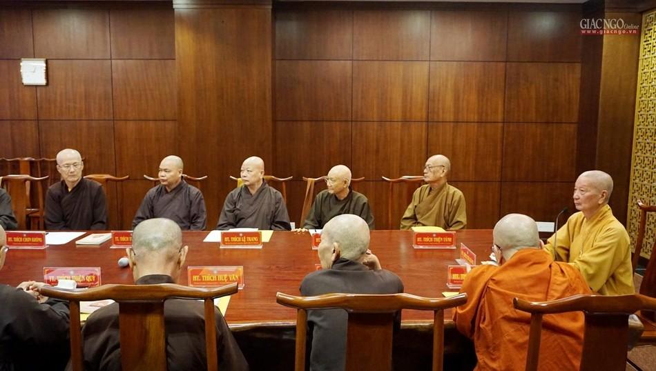 TP.HCM: Ban Thường trực Ban Trị sự thảo luận nội dung tổ chức Đại lễ Phật đản Phật lịch 2565 ảnh 2