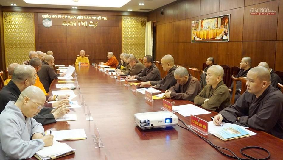TP.HCM: Ban Thường trực Ban Trị sự thảo luận nội dung tổ chức Đại lễ Phật đản Phật lịch 2565 ảnh 4
