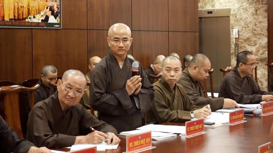 TP.HCM: Ban Thường trực Ban Trị sự thảo luận nội dung tổ chức Đại lễ Phật đản Phật lịch 2565 ảnh 1
