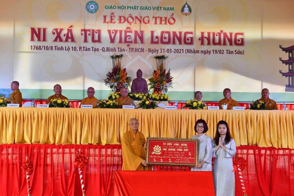 Lễ động thổ xây dựng Ni xá tu viện Long Hưng (quận Bình Tân) ảnh 1