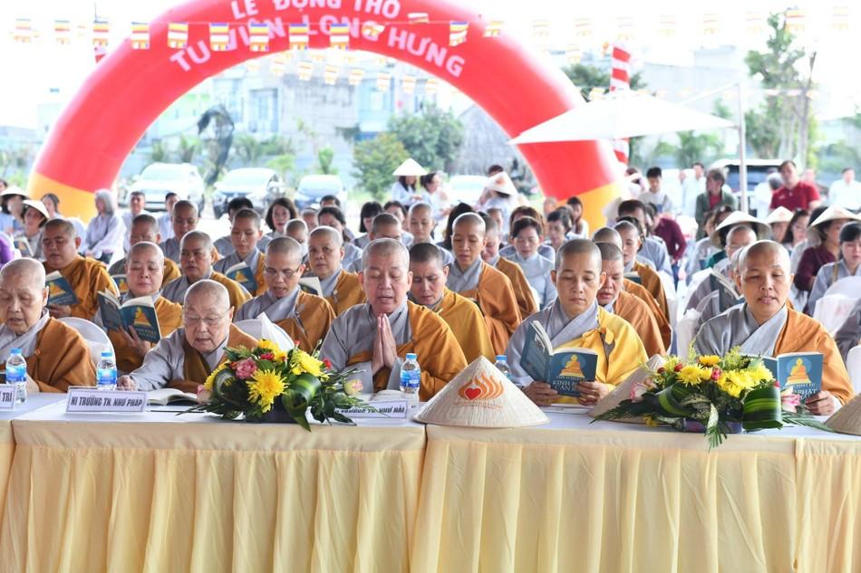 Lễ động thổ xây dựng Ni xá tu viện Long Hưng (quận Bình Tân) ảnh 4
